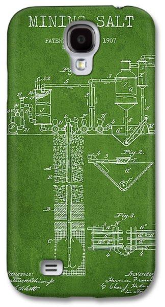 1907 Mining Salt Patent En36_pg Galaxy S4 Case by Aged Pixel