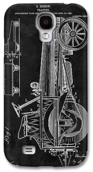 1907 Tractor Blueprint Patent Galaxy S4 Case