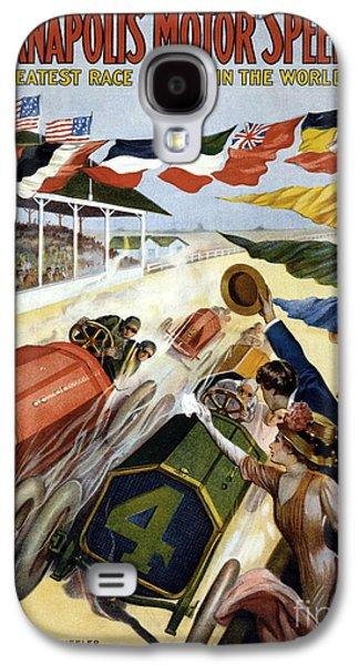 1909 Indy 500 Poster Galaxy S4 Case by Jon Neidert