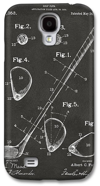 1910 Golf Club Patent Artwork - Gray Galaxy S4 Case by Nikki Marie Smith