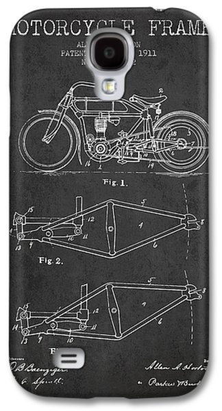 1911 Motorcycle Frame Patent - Charcoal Galaxy S4 Case by Aged Pixel
