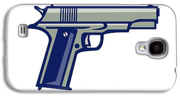 1911 Semi-automatic Pistol Side Retro Galaxy S4 Case by Aloysius Patrimonio