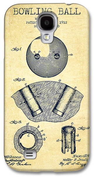 1912 Bowling Ball Patent - Vintage Galaxy S4 Case by Aged Pixel