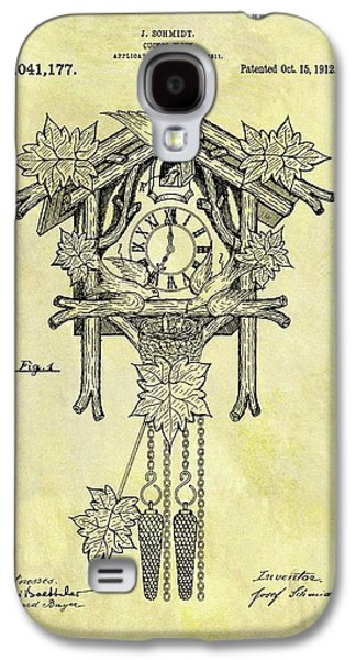 1912 Cuckoo Clock Patent Galaxy S4 Case by Dan Sproul