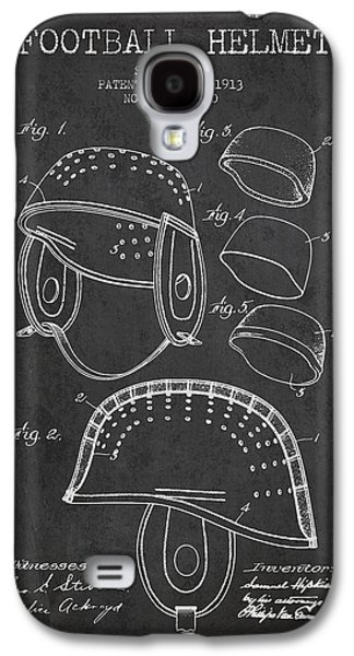 1913 Football Helmet Patent - Charcoal Galaxy S4 Case by Aged Pixel