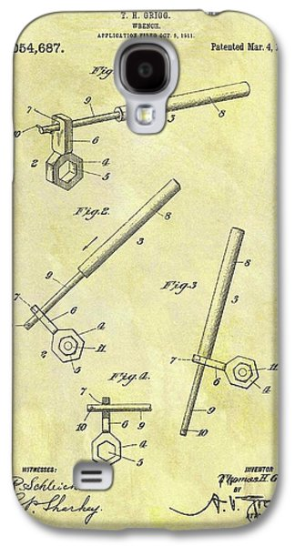 1913 Wrench Patent Galaxy S4 Case by Dan Sproul