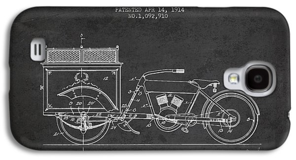 1914 Three Wheel Truck Patent - Charcoal Galaxy S4 Case by Aged Pixel
