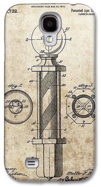 1916 Barber Pole Patent Galaxy S4 Case by Dan Sproul