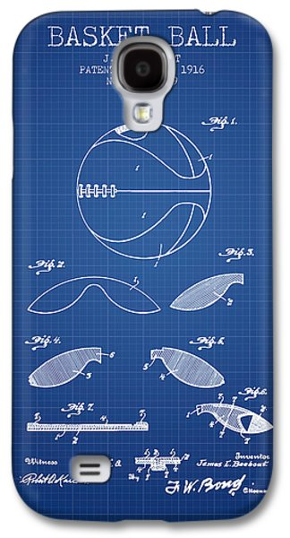 1916 Basket Ball Patent - Blueprint Galaxy S4 Case by Aged Pixel
