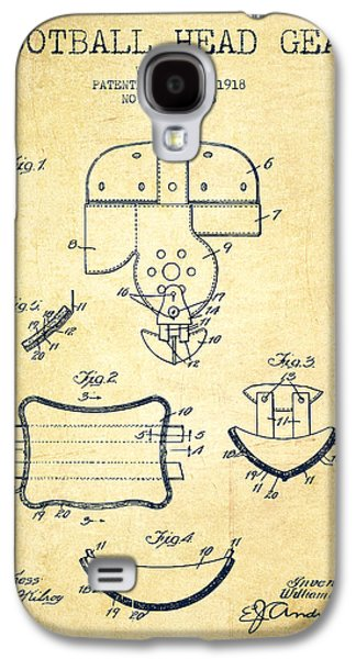 1918 Football Head Gear Patent - Vintage Galaxy S4 Case by Aged Pixel