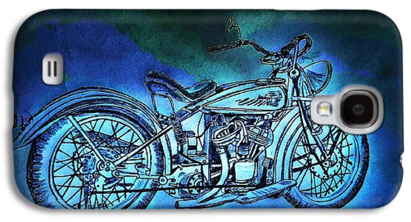 1920 Indian Motorcycle - Midnight Ride Galaxy S4 Case by Scott D Van Osdol