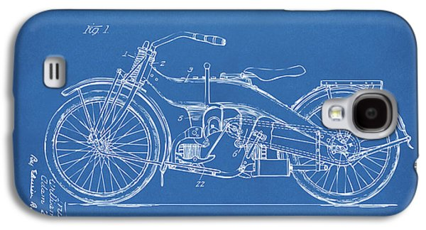 1924 Harley Motorcycle Patent Artwork Blueprint Galaxy S4 Case