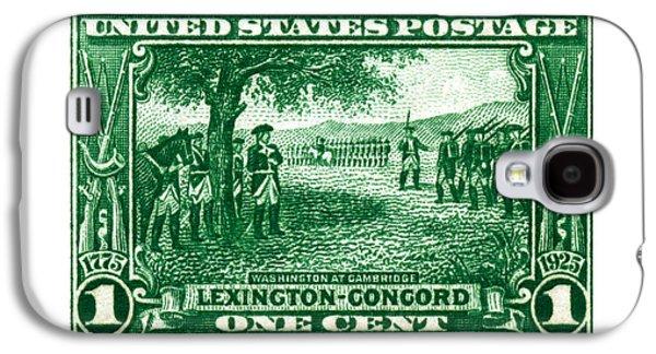 1925 George Washington At Cambridge Stamp Galaxy S4 Case