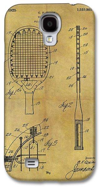 1925 Tennis Racket Patent Galaxy S4 Case