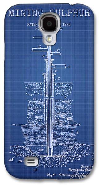 1926 Mining Sulphur Patent En37_bp Galaxy S4 Case by Aged Pixel
