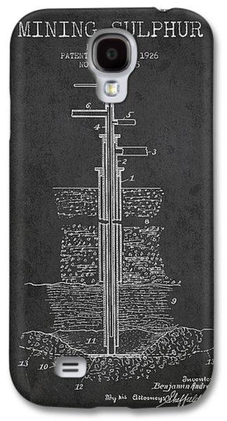 1926 Mining Sulphur Patent En37_cg Galaxy S4 Case by Aged Pixel