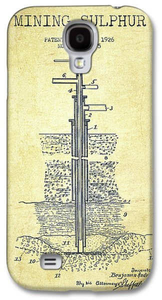 1926 Mining Sulphur Patent En37_vn Galaxy S4 Case by Aged Pixel
