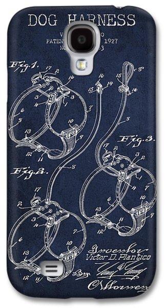 1927 Dog Harness Patent - Navy Blue Galaxy S4 Case