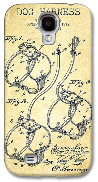1927 Dog Harness Patent - Vintage Galaxy S4 Case