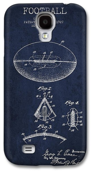 1927 Football Patent - Navy Blue Galaxy S4 Case by Aged Pixel