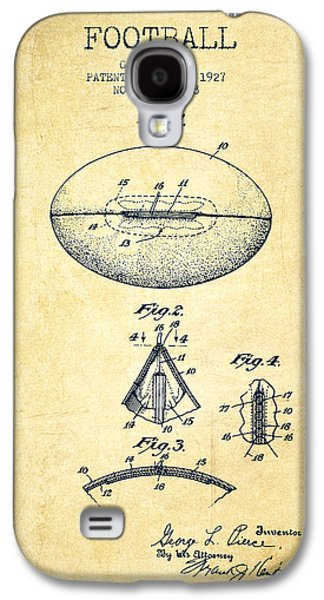 1927 Football Patent - Vintage Galaxy S4 Case by Aged Pixel