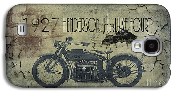 1927 Henderson Vintage Motorcycle Galaxy S4 Case by Cinema Photography
