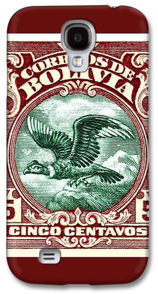 Condor Galaxy S4 Case - 1928 Bolivia Andean Condor Postage Stamp by Retro Graphics