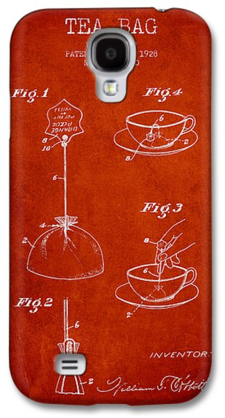 1928 Tea Bag Patent - Red Galaxy S4 Case by Aged Pixel