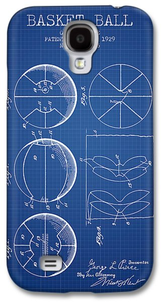 1929 Basket Ball Patent - Blueprint Galaxy S4 Case by Aged Pixel