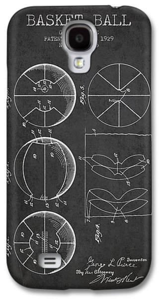 1929 Basket Ball Patent - Charcoal Galaxy S4 Case by Aged Pixel