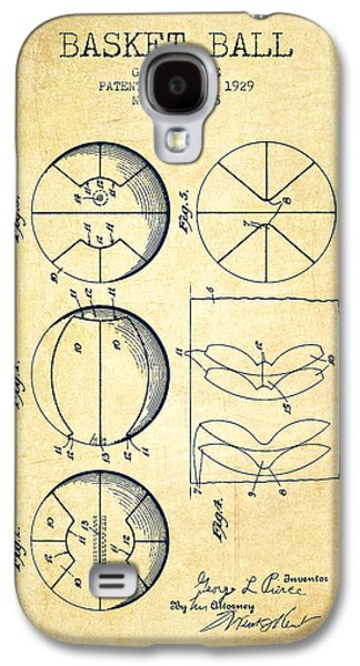 1929 Basket Ball Patent - Vintage Galaxy S4 Case by Aged Pixel