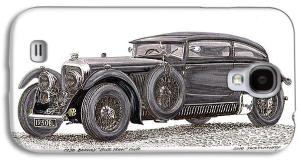 1930 Bentley Blue Train Coupe Galaxy S4 Case by Jack Pumphrey