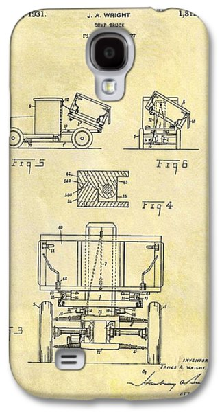 1931 Dump Truck Patent Galaxy S4 Case by Dan Sproul