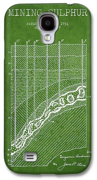 1931 Mining Sulphur Patent En38_pg Galaxy S4 Case by Aged Pixel