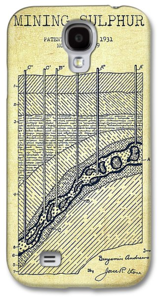 1931 Mining Sulphur Patent En38_vn Galaxy S4 Case by Aged Pixel