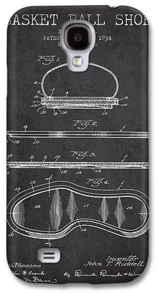 1934 Basket Ball Shoe Patent - Charcoal Galaxy S4 Case by Aged Pixel
