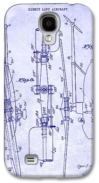 1935 Helicopter Patent Blueprint Galaxy S4 Case