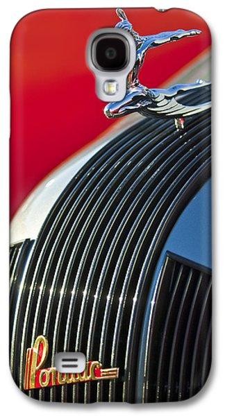 1935 Pontiac Sedan Hood Ornament Galaxy S4 Case by Jill Reger
