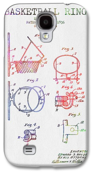 1936 Basketball Ring Patent - Color Galaxy S4 Case by Aged Pixel