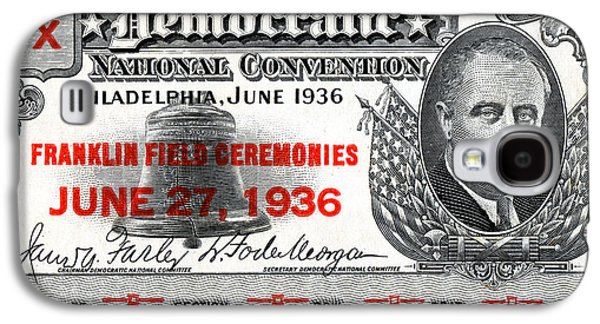 1936 Democrat National Convention Ticket Galaxy S4 Case by Historic Image
