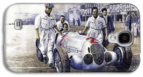1937 Italian Gp Mercedes Benz W125 Rudolf Caracciola Galaxy S4 Case by Yuriy Shevchuk