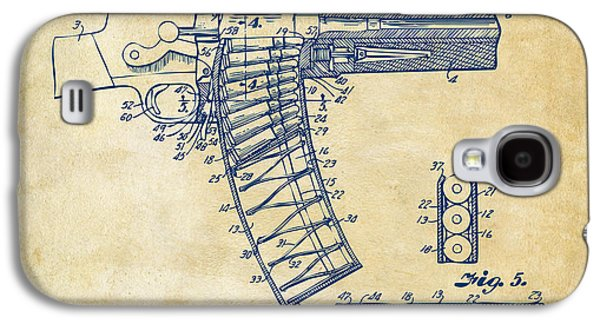 Lines Drawings Galaxy S4 Cases - 1937 Police Remington Model 8 Magazine Patent Minimal - Vintage Galaxy S4 Case by Nikki Marie Smith