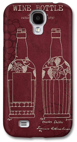 1937 Wine Bottle Patent - Red Wine Galaxy S4 Case by Aged Pixel