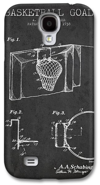 1938 Basketball Goal Patent - Charcoal Galaxy S4 Case by Aged Pixel