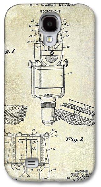 1938 Microphone Patent Drawing Galaxy S4 Case by Jon Neidert