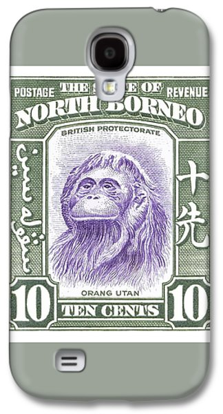 Orangutan Galaxy S4 Case - 1939 North Borneo Orangutan Stamp by Retro Graphics