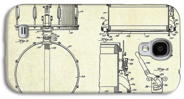 1939 Slingerland Snare Drum Patent Sheets Galaxy S4 Case by Gary Bodnar