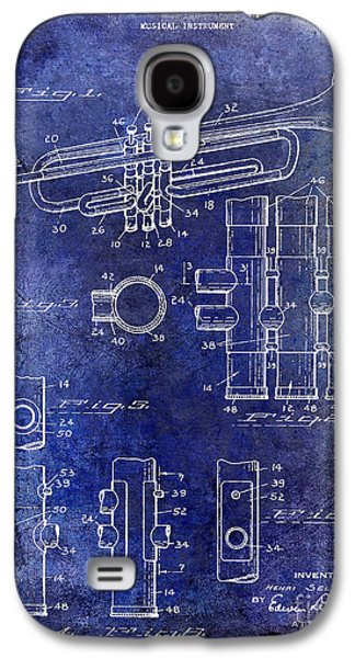 1939 Trumpet Patent Blue Galaxy S4 Case