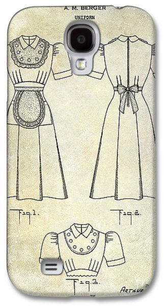 1940 Waitress Uniform Patent Galaxy S4 Case