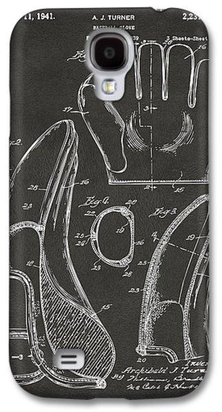 1941 Baseball Glove Patent - Gray Galaxy S4 Case by Nikki Marie Smith